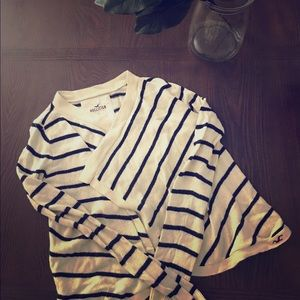 Striped cover up sweater